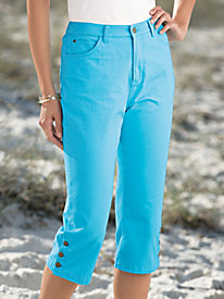 Vicki Blue� Denim Capris
