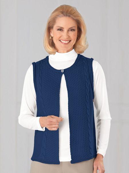 44a0047329 Vicki Wayne® Cable Knit Sweater Vest
