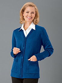 Button-Front Cardigan by Judy Bond&#8482