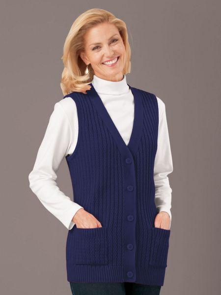7231170162 Vicki Wayne® Classic Soft Sweater Vest