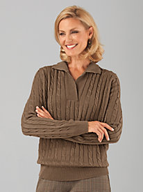 Bend Over® Cable Knit Sweater
