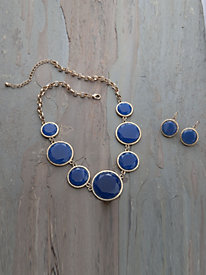 Faceted Necklace And Earring Set