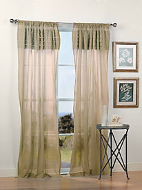 Cotton Mesh Sheer Panel with Pleats