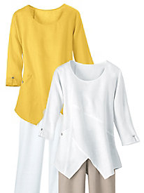 Easy-Living Linen Tunic