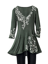 Trailing Vines Knit Tunic