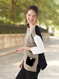 Cotton Colorblock Sweater