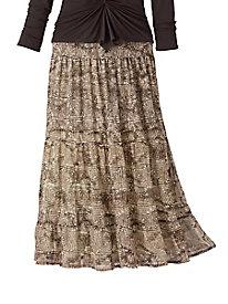 Batik Print Skirt