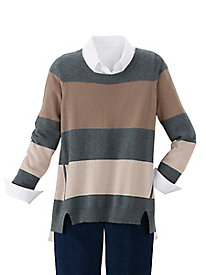 Touch of Cashmere Striped Sweater