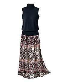 Artisan-Print Skirt
