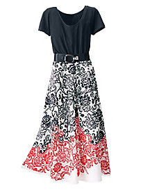 Spanish Rose Maxi Dress