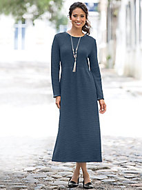 Effortless Waffle-Texture Dress