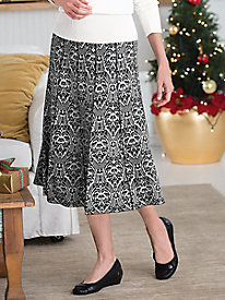 Jacquard Sweater Skirt