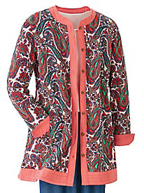 Paisley Trapunto Quilted Jacket