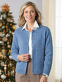 Pure Wool Cable Cardigan
