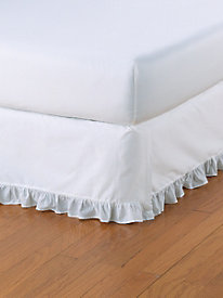 Ruffled-Edge Bedskirt 18'' Drop