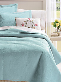 Solid Color Quilted Coverlet