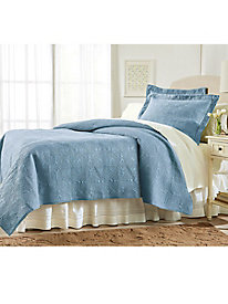 Solid Color Quilted Coverlet Collection
