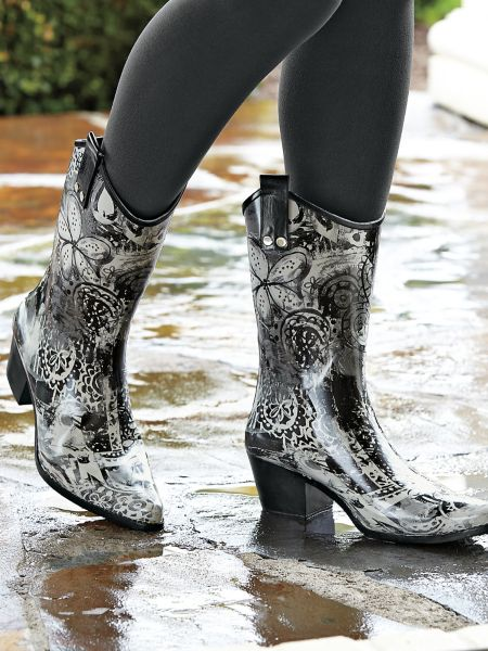 Bops Cowgirl Rain Boots - rubber cowboy boots | Solutions Famous Clothing Stores