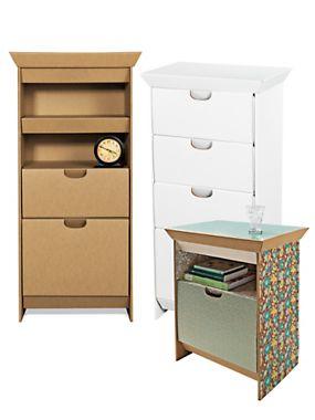 Design Your Own Dresser or Night Stand - Cardboard Furniture - SmartDeco    Solutions