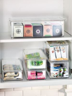 Superb Kitchen Binz With Lids   Make Most Of Pantry And Fridge Space With  Stackable See Thru Organizers | Solutions