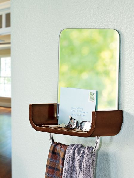 mirror with shelf entryway mirror key valet solutions. Black Bedroom Furniture Sets. Home Design Ideas