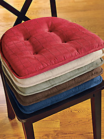 Box Stitch Chair Gripper Cushion