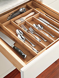 Large Expandable Flatware Tray