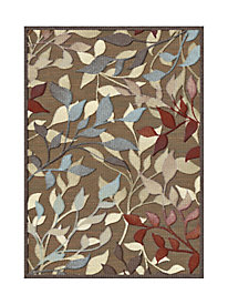 Leaves Low-Profile Rug (20x31-in.)