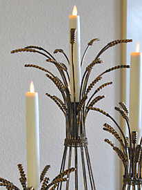 Mystique Flameless Taper Candle (8-in.)