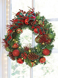 Perfectly Plaid Wreath