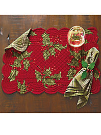 Holly Quilted Placemats (set of 4)