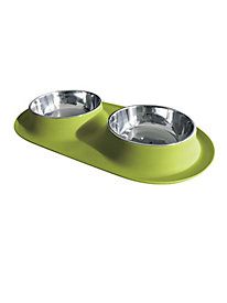 Medium Messy Mutts Double Feeder