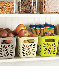 Easy-Clean Pantry Baskets (set of 2)