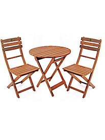 3-Piece Folding Wood Bistro Set