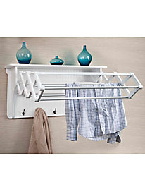 Wall-Mount Drying Rack with Shelf