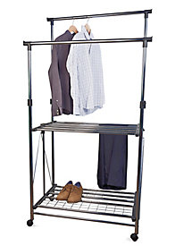 Folding Double Garment Rack