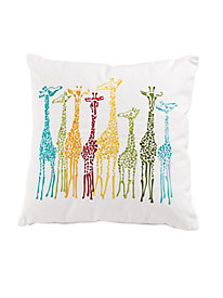 Embroidered Giraffe Pillow