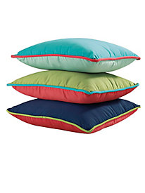 Indoor/Outdoor Reversible Throw Pillow