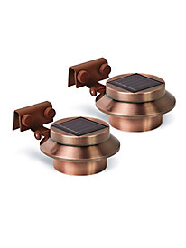 Copper Solar Gutter Lights (set of 2)