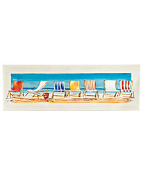 Beach Chairs Oil Painting