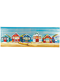 Beach Houses Oil Painting