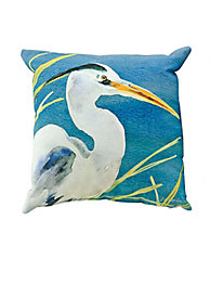 Blue Heron Indoor/Outdoor Pillow
