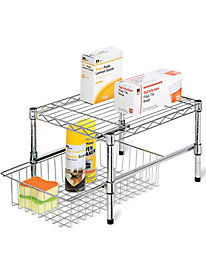Adjustable-Height Shelf & Drawer