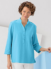 Captiva Cotton Mandarin Tunic