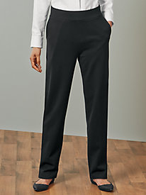 Pull-on Ponte Knit Pant...