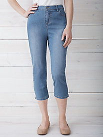 Easy-On Classic Fit Stretch Capri