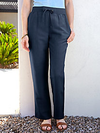Silk Linen Easy-On Pant