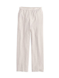 Linen Cotton Stripe Easy-On Pant