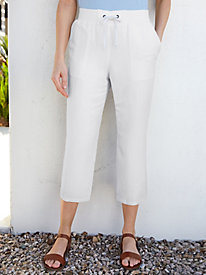 Silk Linen Easy-On Capri