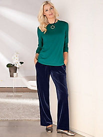 Easy-On Velvet Pants